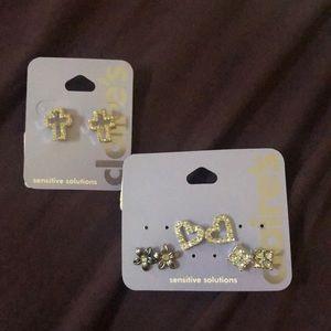 Claire's Bundle Stud Earrings